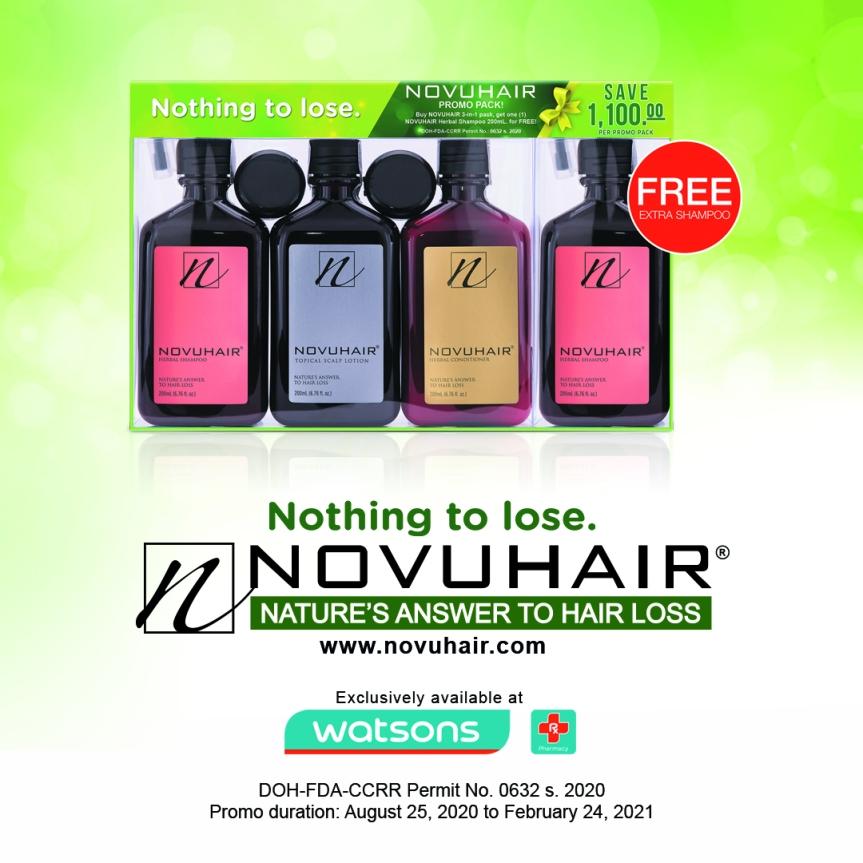 FREE Extra NOVUHAIR HerbalShampoo